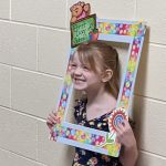 kindergartener in picture frame